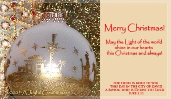 Light of the World ecard, online card