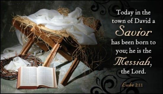 Luke 2:11 ecard, online card