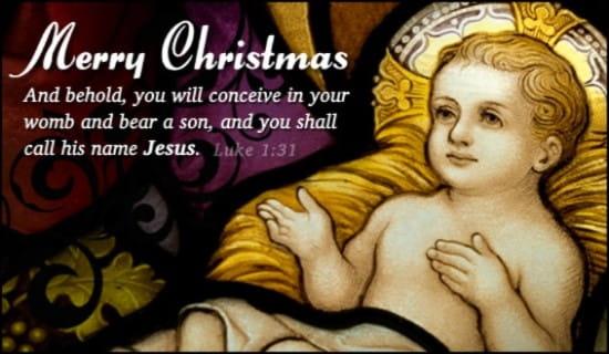 Baby Jesus ecard, online card