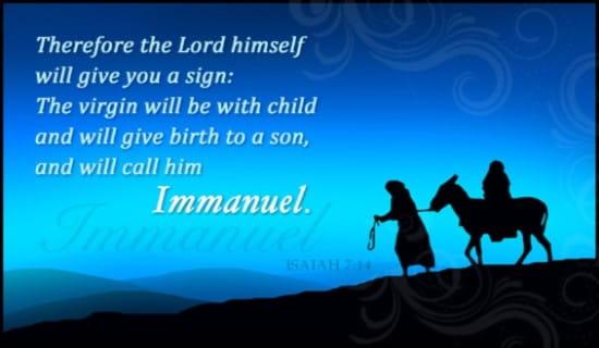 Isaiah 7:14 ecard, online card