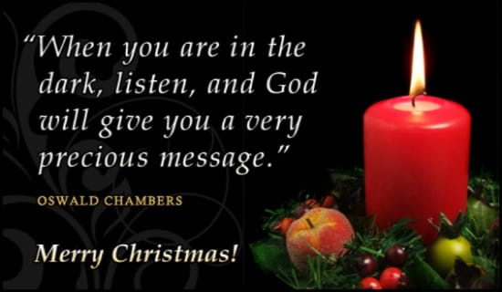 Oswald Chambers ecard, online card