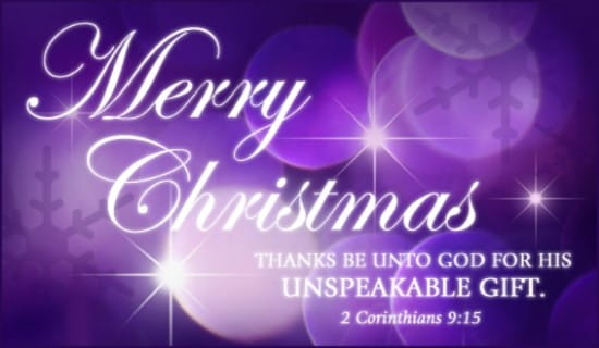 Unspeakable Gift ecard, online card