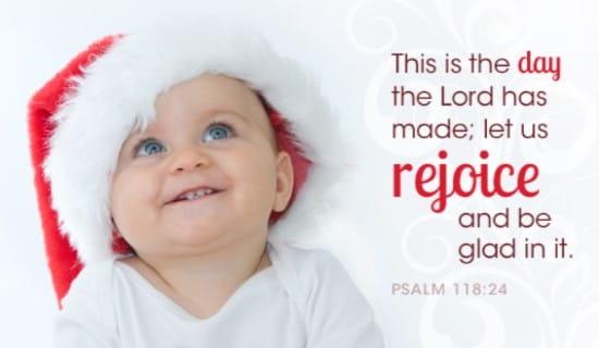 Christmas Baby ecard, online card