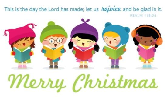 Caroling Kids ecard, online card
