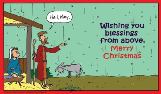 Hail, Mary ecard, online card