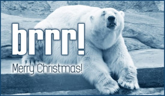 Brrr... Christmas ecard, online card