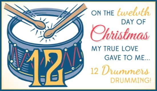 12 Drummers Ecard Free Christmas Cards Online