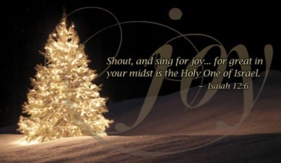 isaiah 12 6 - joy ecard