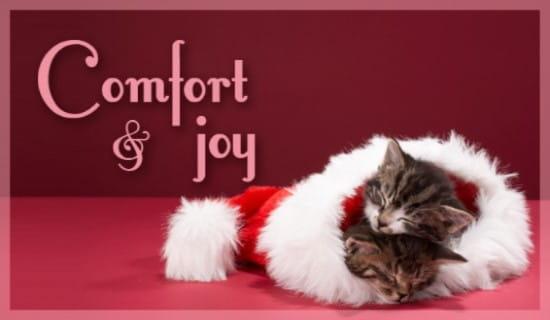 Comfort & Joy ecard, online card
