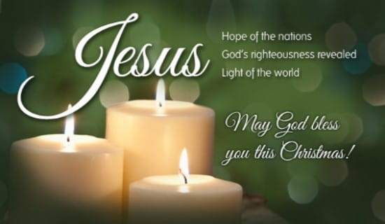 Jesus - Our Hope ecard, online card