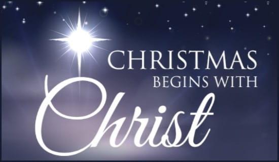 Christmas Christ ecard, online card
