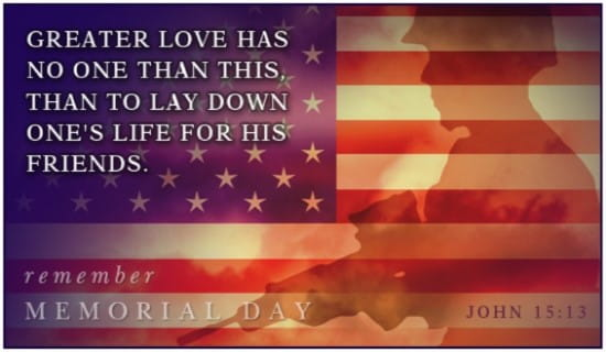 Greater love ecard free memorial day cards online m4hsunfo
