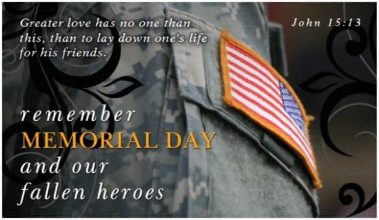 Fallen Heroes ecard, online card
