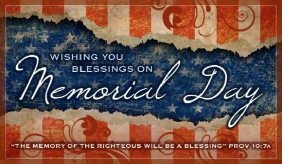Memorial Blessings ecard, online card