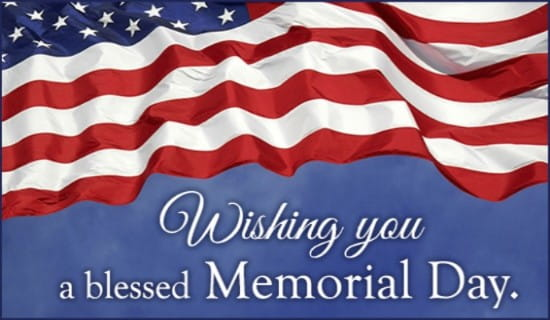 Blessed Memorial Day ecard, online card