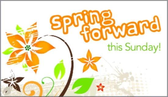 Spring Forward ecard, online card