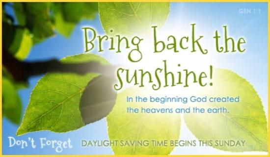 Bring Back Sun ecard, online card