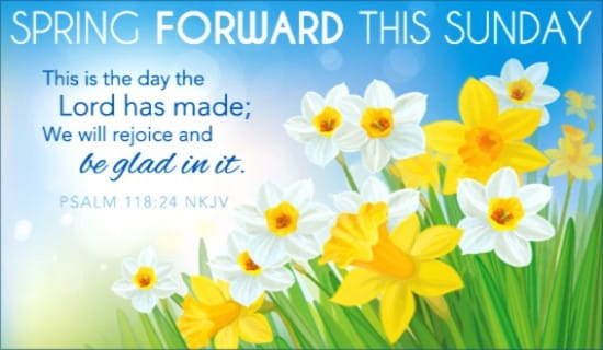 Spring Forward ecard, online card