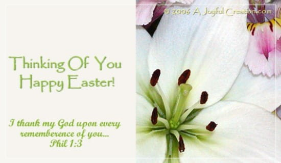 Easter - Thinking of You ecard, online card