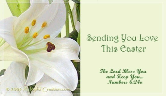 Easter love ecard free easter cards online - Crosscards free ecards ...
