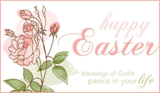 Easter Blessings ecard, online card