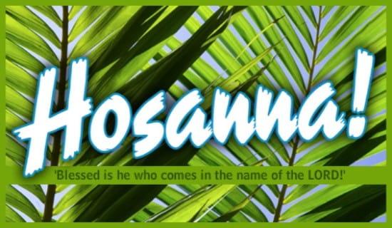 Hosanna ecard, online card