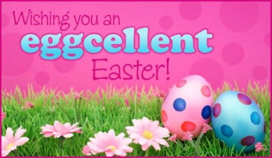 Eggcellent Easter ecard, online card