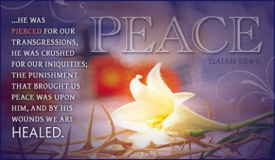 Isaiah 53:4-5 ecard, online card