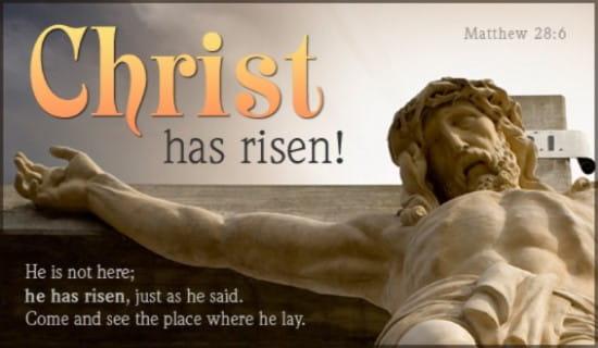 Christ has risen! ecard, online card