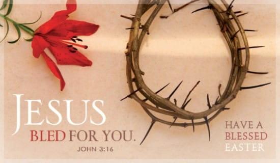 Blessed Easter ecard, online card