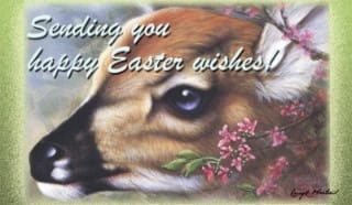 Easter Fawn ecard, online card