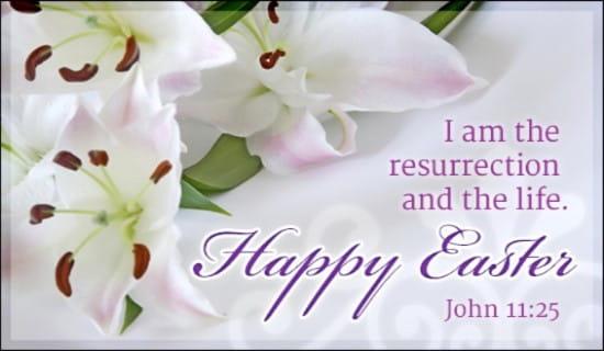Easter - John 11:25 ecard, online card