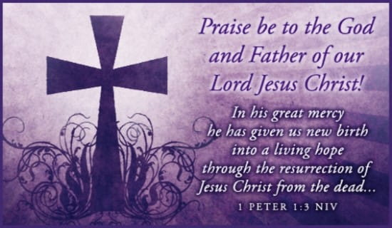 1 Peter 1:3 NIV ecard, online card
