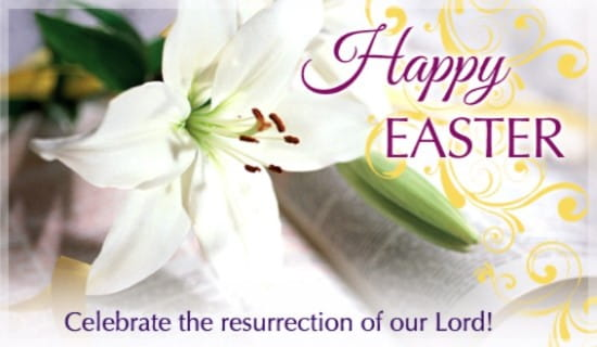 Easter Lily ecard, online card