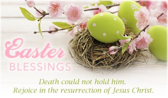 Easter Blessings ecard, online card