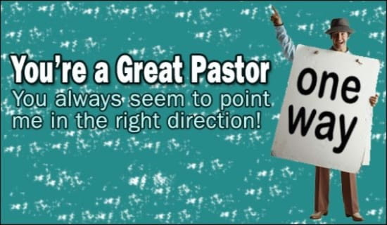 You're A Great Pastor ecard, online card