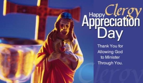 Happy Clergy Appreciation Day ecard, online card