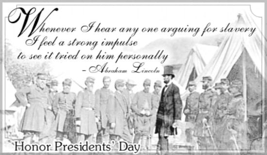 Lincoln on Slavery ecard, online card