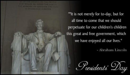 Abe Lincoln ecard, online card