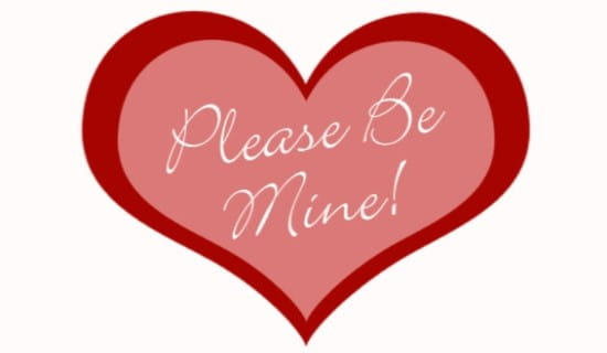 Please Be Mine ecard, online card