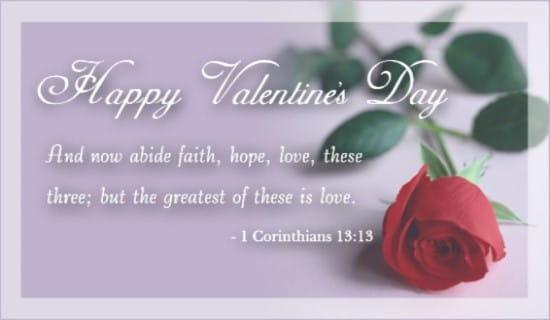 1 Corinthians 13:13 ecard, online card