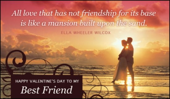 Best friend ecard free valentines day cards online m4hsunfo
