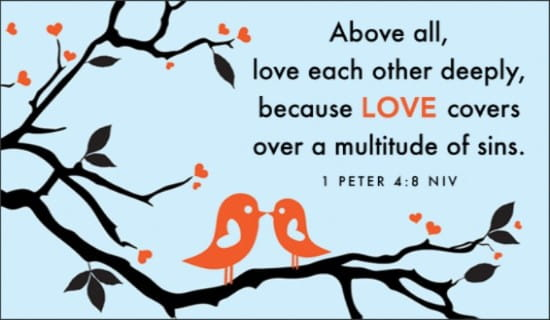 Love - 1 Peter 4:8 NIV ecard, online card