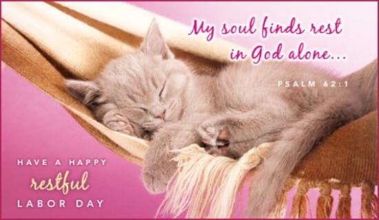 Restful Labor Day ecard, online card