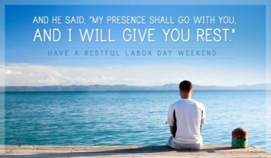 Exodus 33:14 ecard, online card