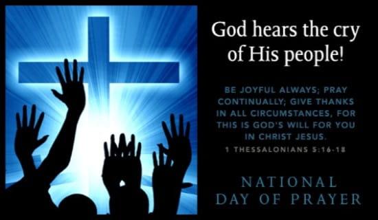 God Hears Our Cry ecard, online card