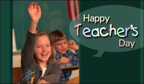 Happy Teacher's Day ecard, online card