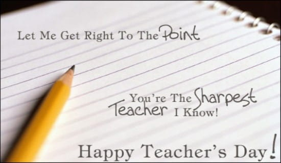 You're the Sharpest Teacher I Know ecard, online card