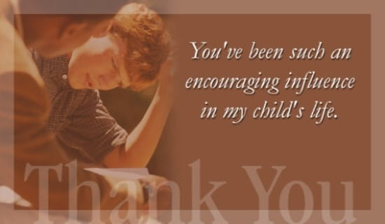 Thank You  - Encouraging Influence ecard, online card