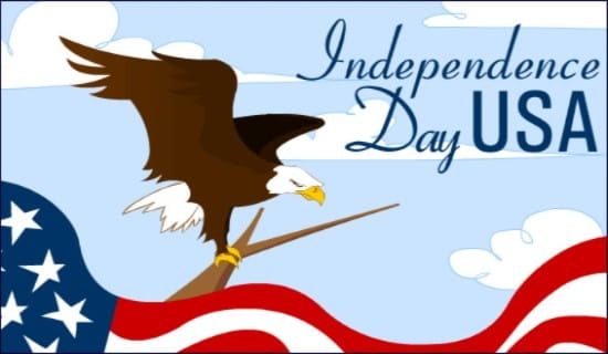 July 4th Eagle ecard, online card